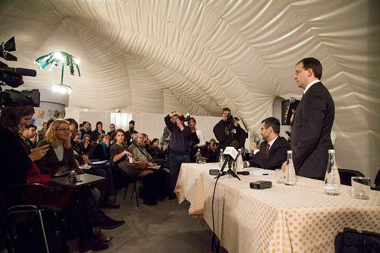 Встреча журналистов с министром культуры России Владимиром Мединским. Фото: Алексей Хлебин