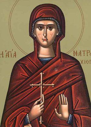 Преподобная Матрона Хиосская