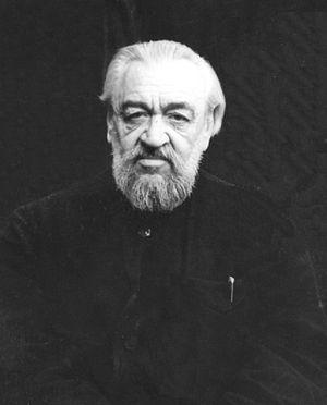Metropolitan Nestor (prisoner Nicholas Anisimov) in Dubravlag. Photo1955.
