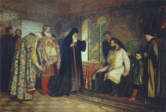 Василий Савинский Нижегородские послы у князя Дмитрия Пожарского 1882 г.