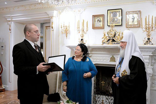 Патриарх Кирилл встретился с главой Российского императорского дома великой княгиней Марией Владимировной