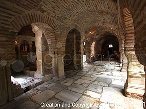 The Church of Saint Demetrius in Thessaloniki Greece: The church of Saint Demetrius in Thessaloniki was constructed on the site where the saint martyred and died for his faith.