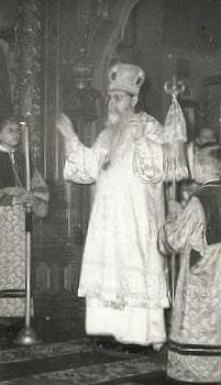 Епископ Мефодий во время Богослужения