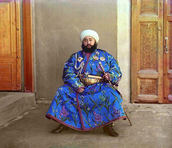 С. М. Прокудин-Горский. Бухарский эмир Алим Хан. 1911 год