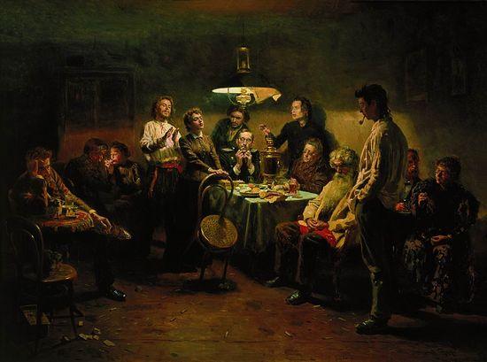Маковский. Вечеринка. 1875