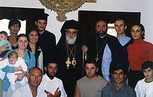 Грузинская община Кипра с епископом Никифором, игуменом Киккского монастыря