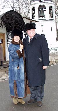 Жан-Мари Ле Пен с супругой в Сретенском монастыре.