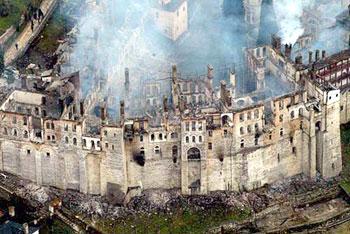 Хиландарский монастырь после пожара