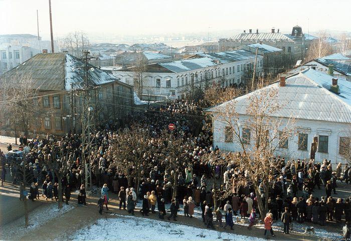Крестный ход в день канонизации прп. Матфея. Фото: yar1591.ucoz.ru