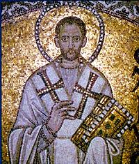 Мозаика с изображением свт. Иоанна Златоуста