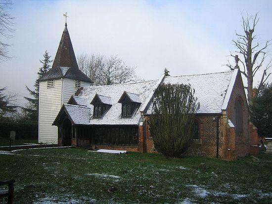 Древняя церковь св. Андрея в деревне Гринстед, Эссекс