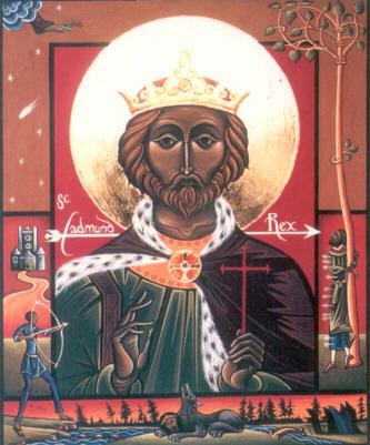 Икона св. Эдмунда с житием.