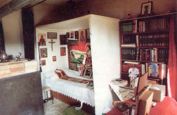 Келья старца Порфирия в Священном Исихастирии Преображения Господня в Милеси