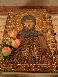 Икона на гробнице блаженной Марфы. Собор Иоанно-Предтеченского монастыря