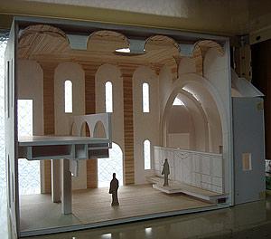 Макет интерьера будущего храма