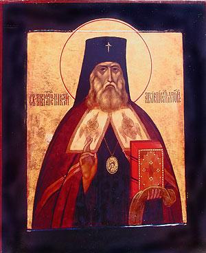 Икона святителя Николая – первый образ равноапостольного миссионера, написанный лаврской монахиней Иулианией (Соколовой) сразу же после прославления святого в 1970 г.