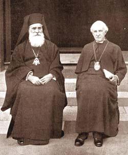 Мелетий Метаксакис и англиканский архиепископ Ланг. Конференция в Ламбете, 1930 г.