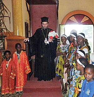 Епископ Савва (Химонетос) с народом Божиим