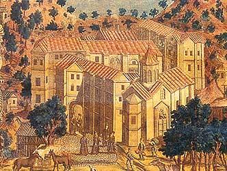 Киккский монастырь. Гравюра 1778 г.