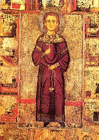 Св. Иоанн Лампадист. Икона XIII века из соборного храма монастыря.