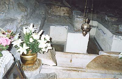 Гроб св. Лазаря в крипте храма св. Лазаря в Ларнаке