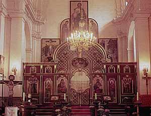 иконостас собора святых Кирилла и Мефодия. Современный вид