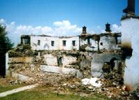 Храм и братский корпус после нападения экстремистов