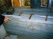 Гроб прп Иоанникия разбитый экстремистами