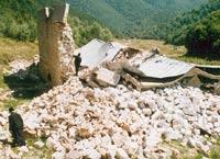 Монастырь после взрыва