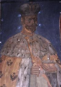 Чудесно спасенна фреска царя-мученика Николая