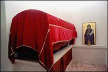 Ковчег с мощами прп. Стефана Пиперского