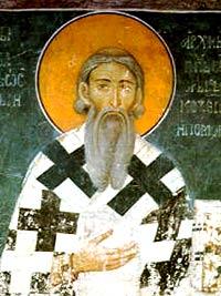 Cвт.Савва, Архиепископ Сербский. Фреска из монастыря Студеница