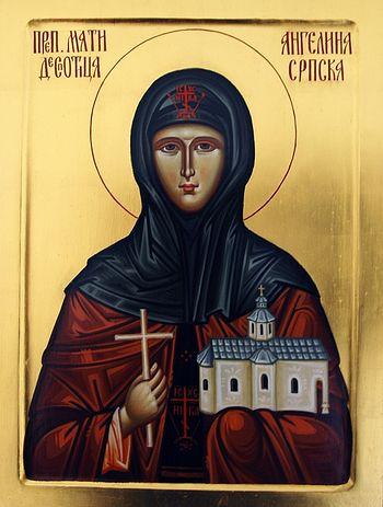 Преподобная Ангелина Сербская. Икона из монастыря Гргетек
