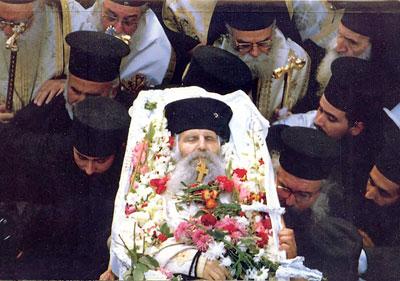 Похороны блаженного старца Иакова (Тсаликиса)