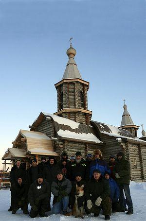 Насельники и строители монастыря. Фото: trifon-luostari.ru