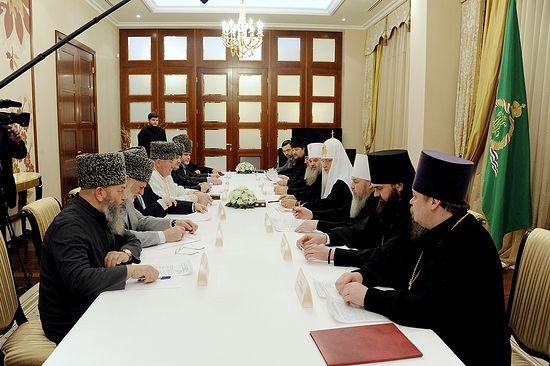 Встреча с муфтиями Северного Кавказа. Фото: Патриархия.ru