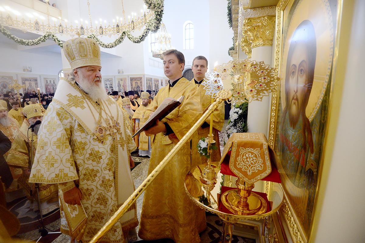 Патриарх Кирилл освятил Спасский собор в Пятигорске / Православие.