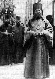 Епископ Тихон с клириками в Сан-Франциско