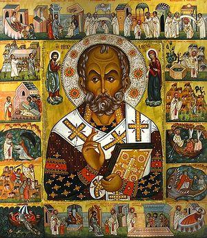 Святитель Николай Чудотворец. Икона с житием