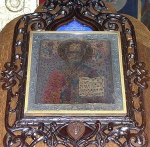 Икона Святителя Николая из Никольского собора Ниццы