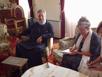 Встреча Архиепископа Новой Юстинианы и всего Кипра Хризостома II с представителями русскоязычных средств массовой информации Кипра