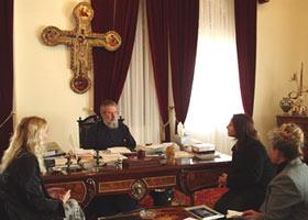 Во время встречи с Архиепископом Хризостомом