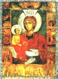 Икона Пресвятой Богородицы Троеручицы из Троянского монастыря