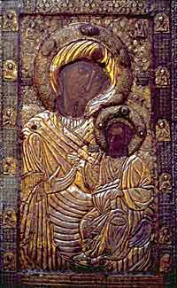 Иверская икона Божией Матери - покровительница Грузии. Афон.