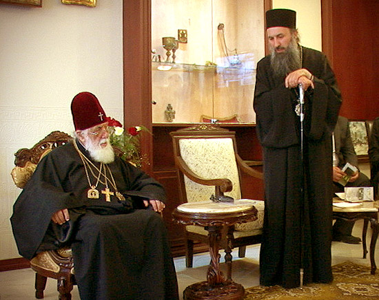 Святейший Католикос-Патриарх всея Грузии Илия II и митрополит Самтависский и Горийский Андрей (Гвазава)