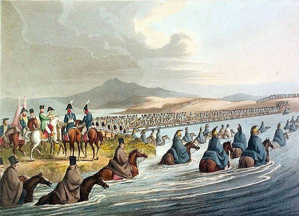 Переправа наполеоновских войск через Неман. Автор: Кларк