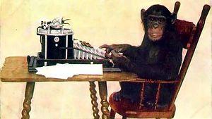 Абсолютно случайным образом ударяя по клавишам пишущей машинки, гипотетическая обезьяна рано или поздно напечатает одну из пьес Шекспира, говорят эволюционисты. Однако, если время ограничено, пусть даже миллиардом лет, вероятность этого практически равна нулю