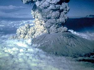 Извержение вулкана Сан-Элен в 1980 г.