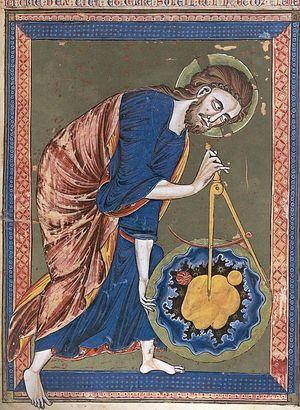 Сотворение мира. Французская книжная миниатюра XIII века