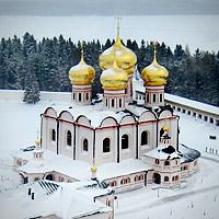 Храмы зимней Руси с высоты птичьего полета